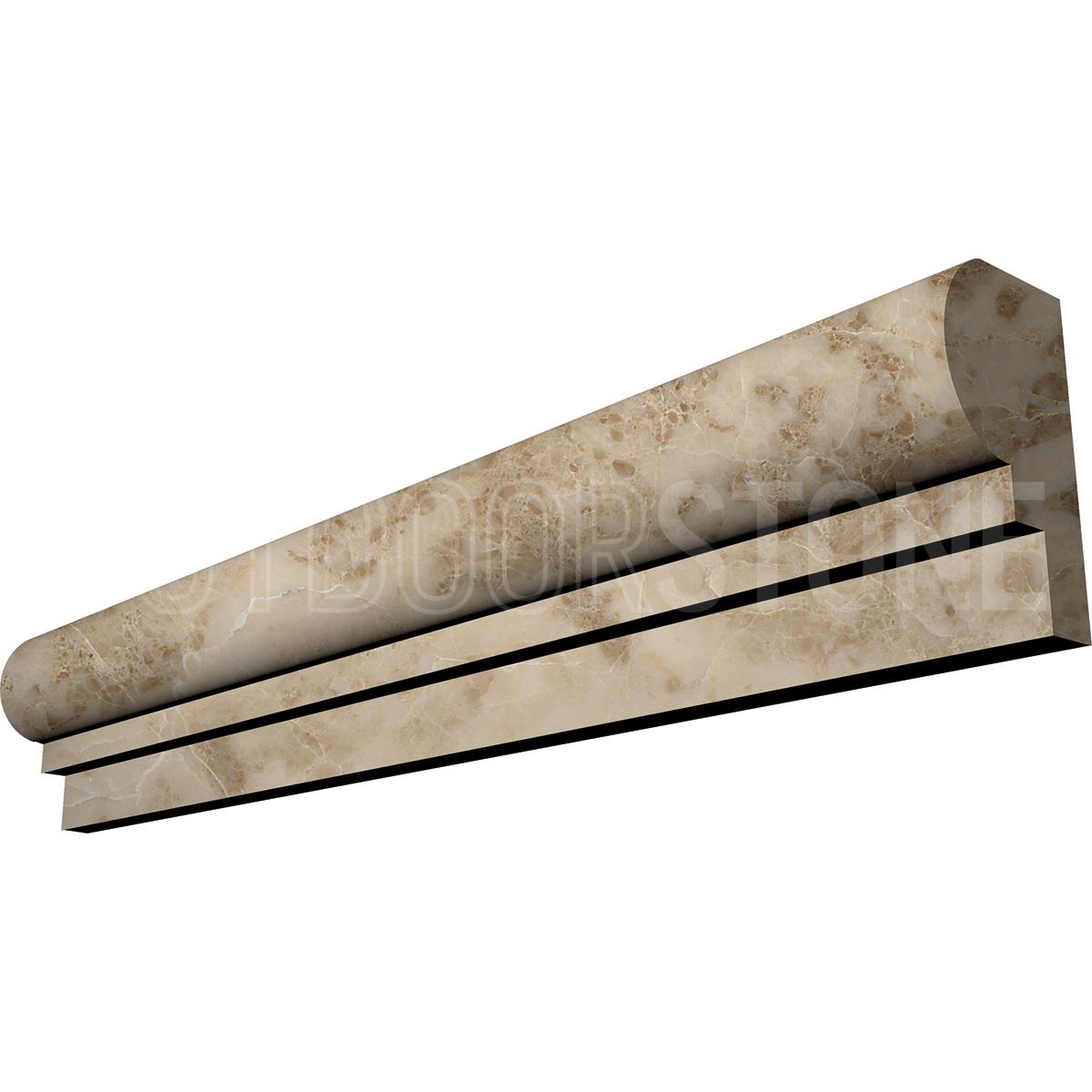 Cappuccino Ogee Chairrail 2x12