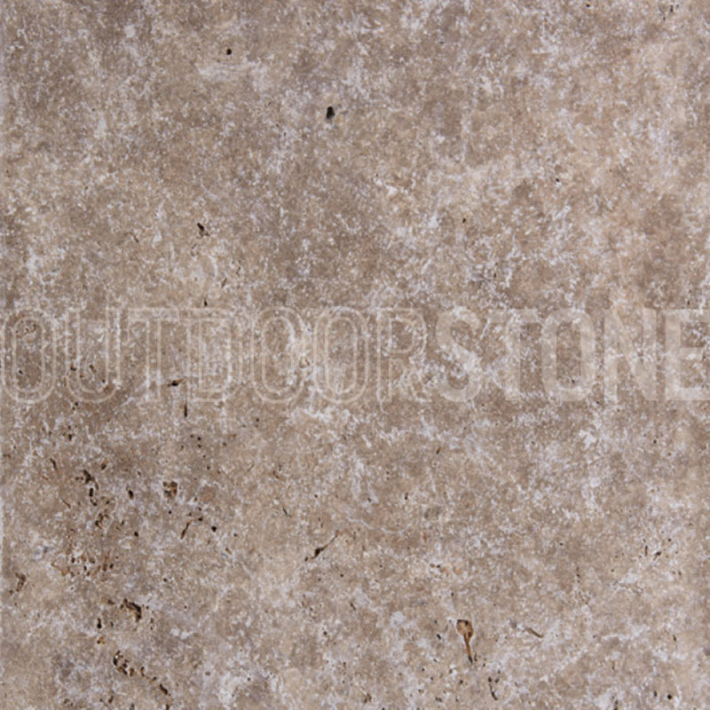 "Tumbled Riverbed Walnut Beige 3: Walnut Travertine 3 Cm Paver Tumbled 24""x24"""