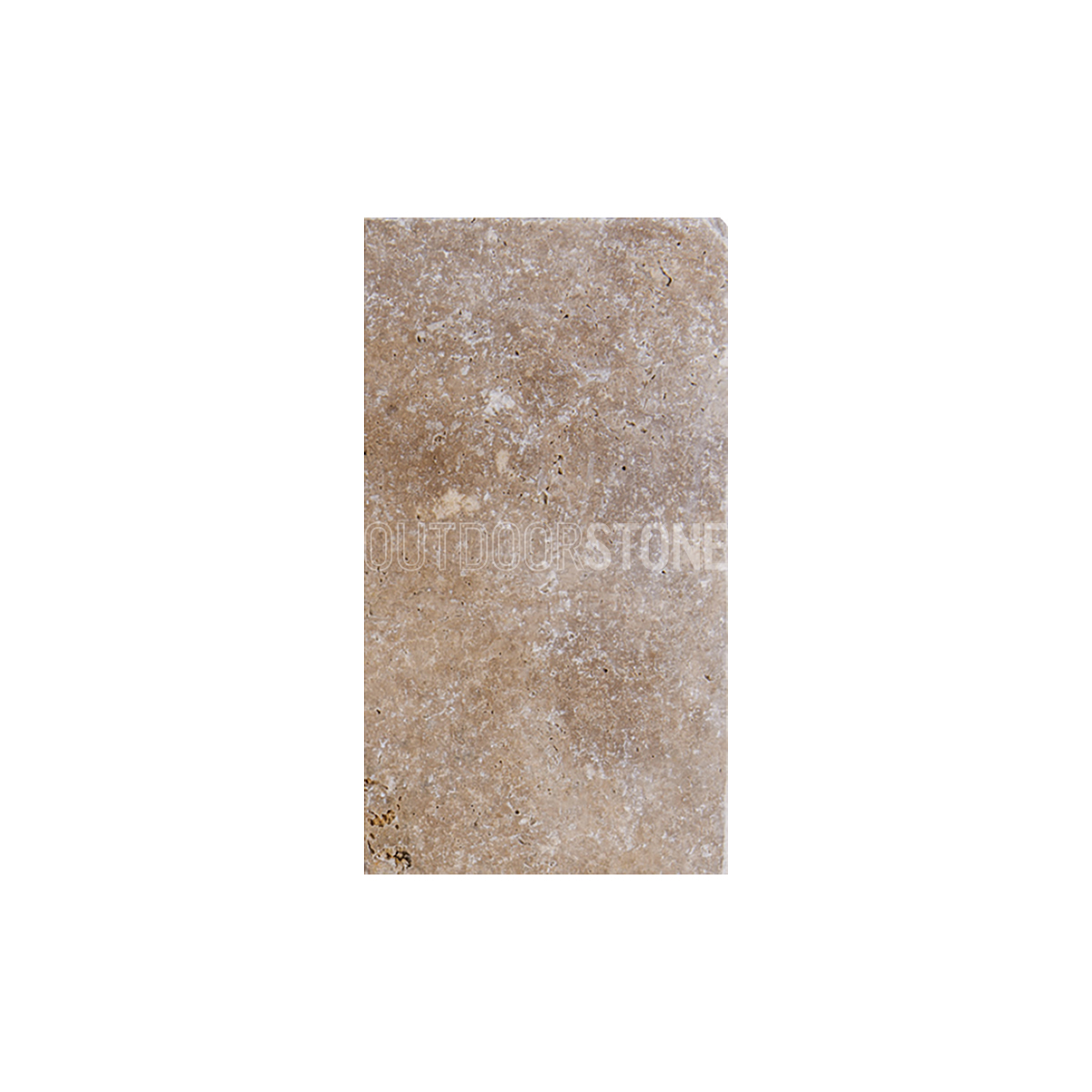 "Tumbled Riverbed Walnut Beige 3: Walnut Travertine 3 Cm Paver Tumbled 8""x16"""