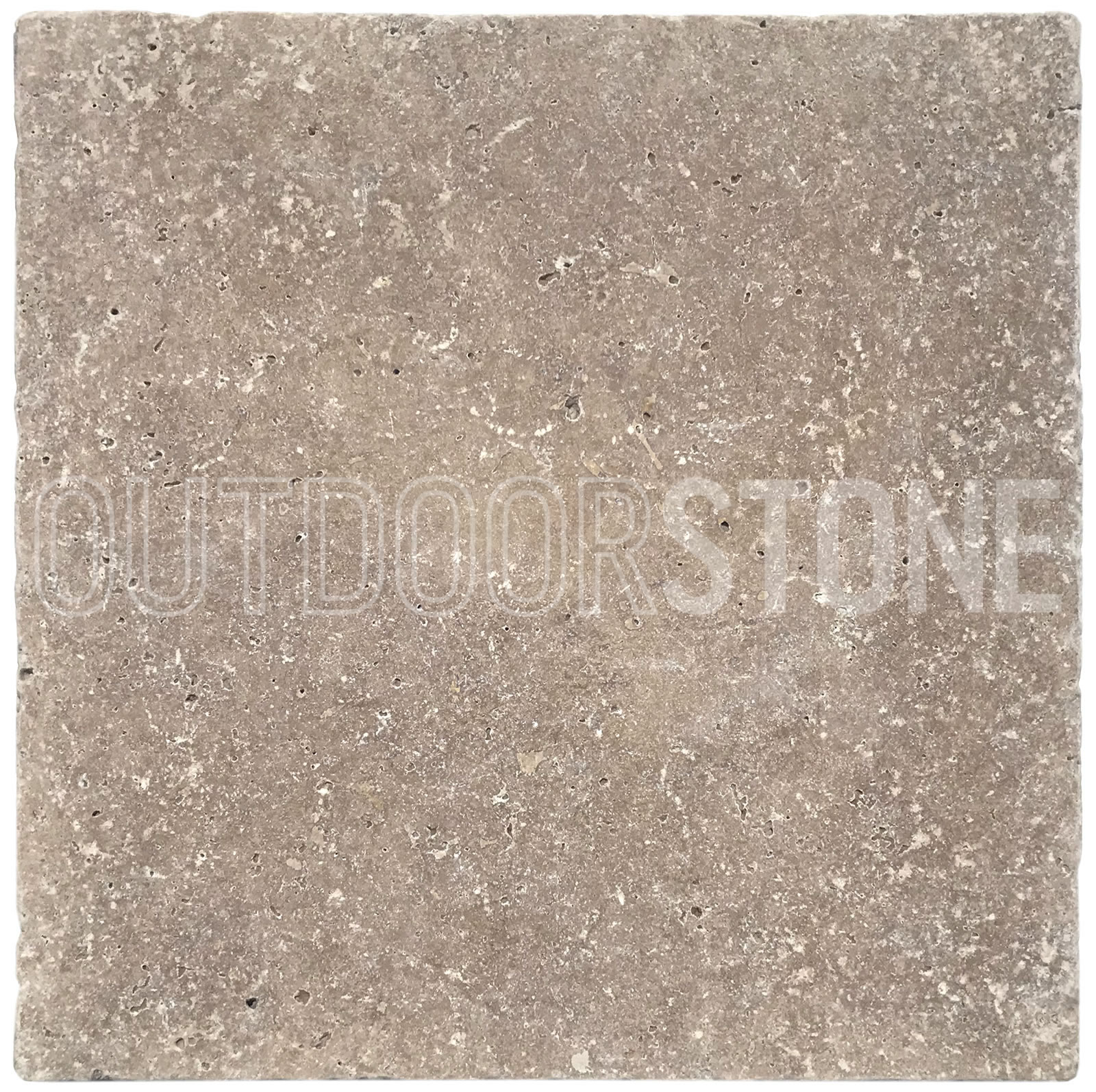 "Tumbled Riverbed Walnut Beige 3: Walnut Travertine 3 Cm Paver Tumbled 12""x12"""